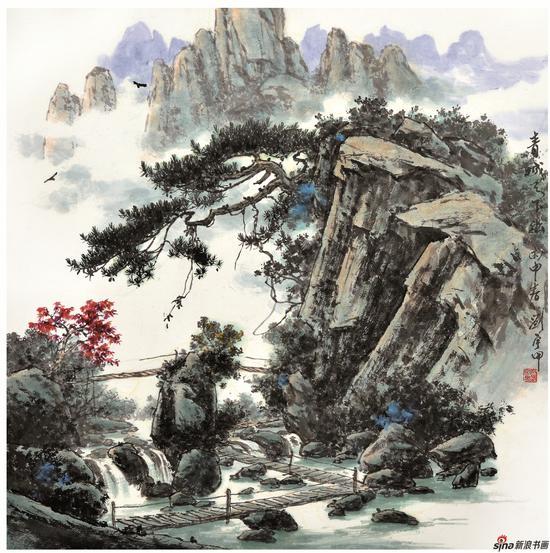 青城天下幽 68X68cm 2016年