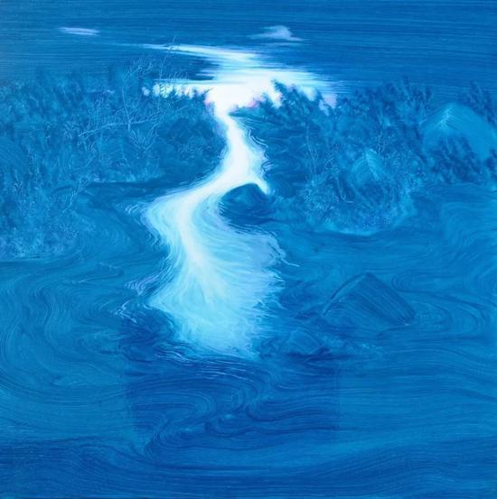 《游记——黎明No.2》60x60cm 布面油画