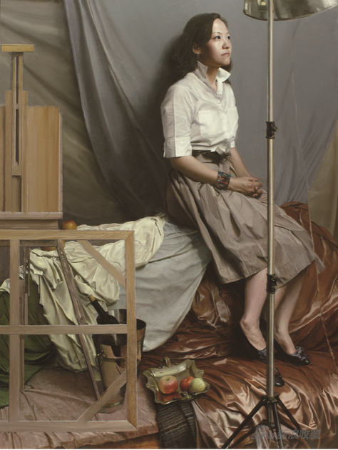 徐芒耀 油画工作室系列之一 布面油画 120×160 2017年