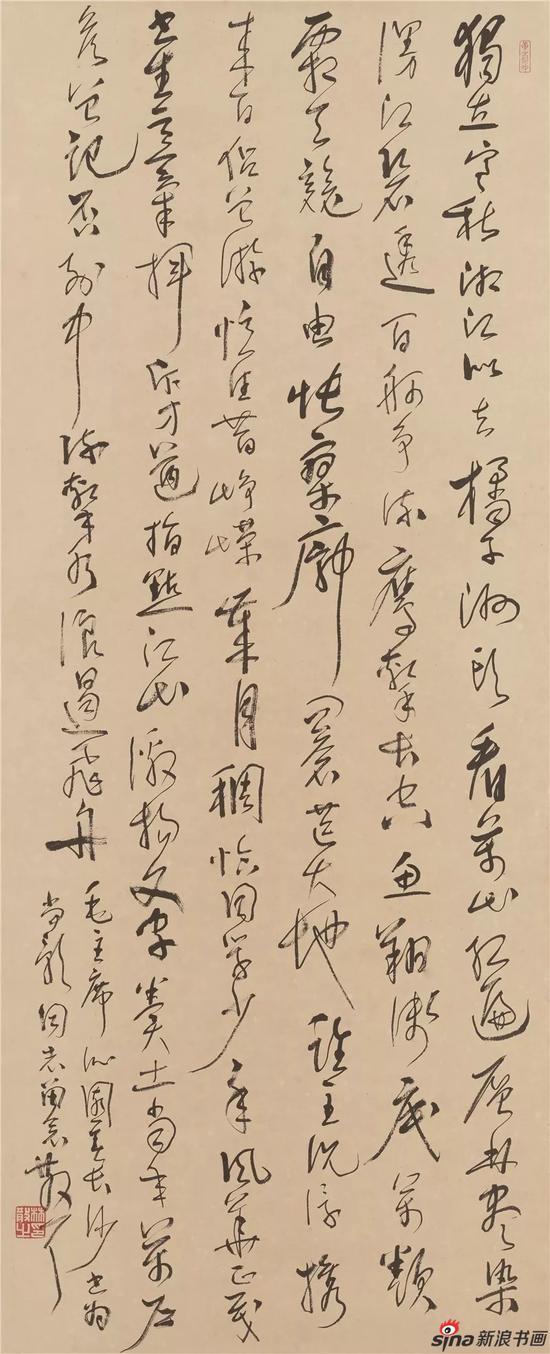 毛泽东 沁园春·长沙 水墨纸本 立轴 107×44cm