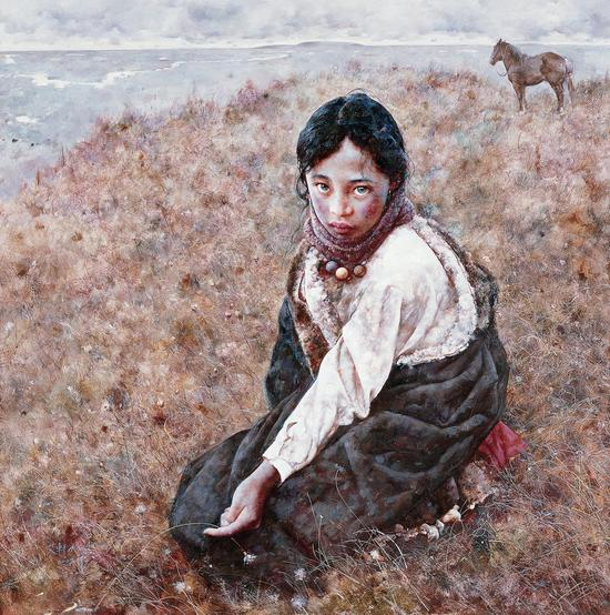 艾轩   荒原的黎明   布面油画   110×110 cm 2007