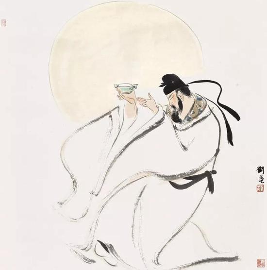 刘旦宅(1931-2011) 太白醉酒