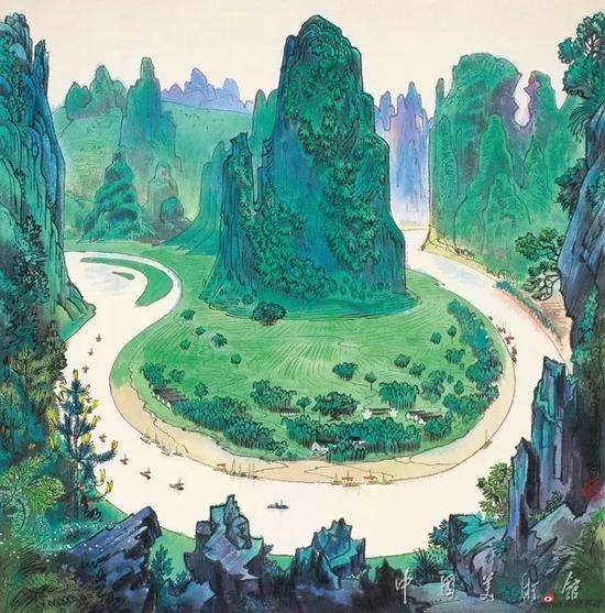 漓江胜景,周令钊,1988