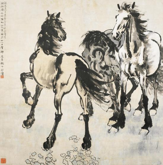 徐悲鸿(1895-1953) 三骏图