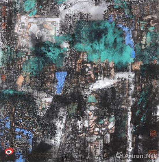 《山之交响曲》 材质:纸本 尺寸:97×97cm