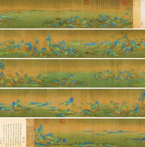 北宋 王希孟《千里江山图》即采用中国古代昂贵的矿物颜料绘制,画作传承千年,历久弥新