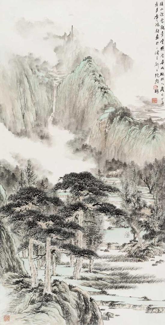 路洪明山水画展在京举办