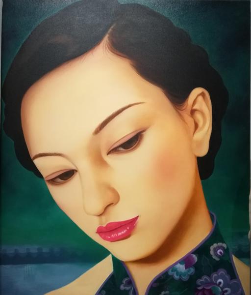 中国媚娘200x150cm布面油画 2018