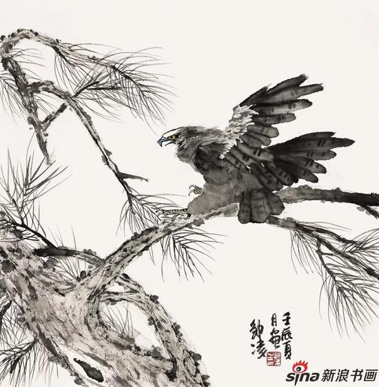 雄鹰 66cm×66cm