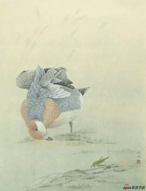 《禽趣》 60cm×46cm   朱小元