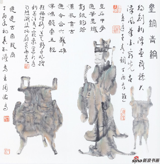 青铜人物69×69cm