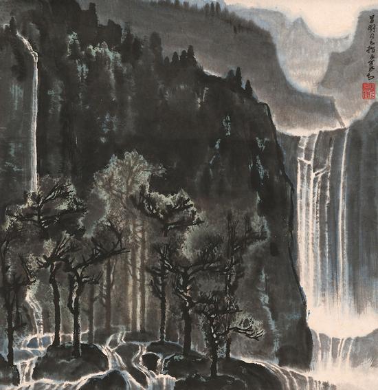 李可染  树杪百重泉