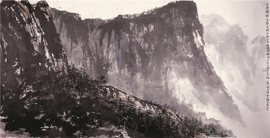 近峰铸铁 远岭多娇 141×289cm 2008年