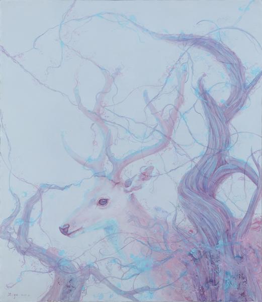 待 张子叶 150x130cm 布面油画 2015年