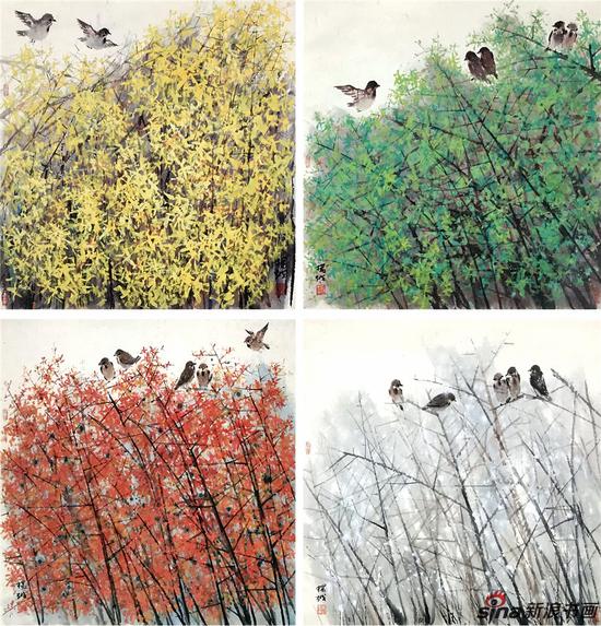 《春夏秋冬》82×90cm