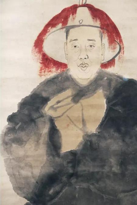 任伯年為吳昌碩作《酸寒尉》(局部)浙江博物館館藏