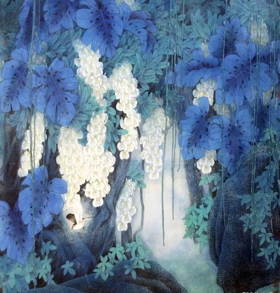 作品名称:《四季?惊蛰》   作品尺寸:143x156 cm   材质:纸本设色