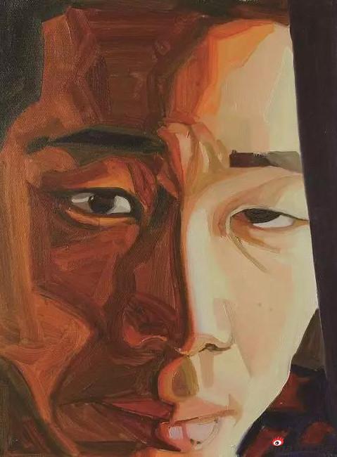 《李老储 》 40×30cm 油画