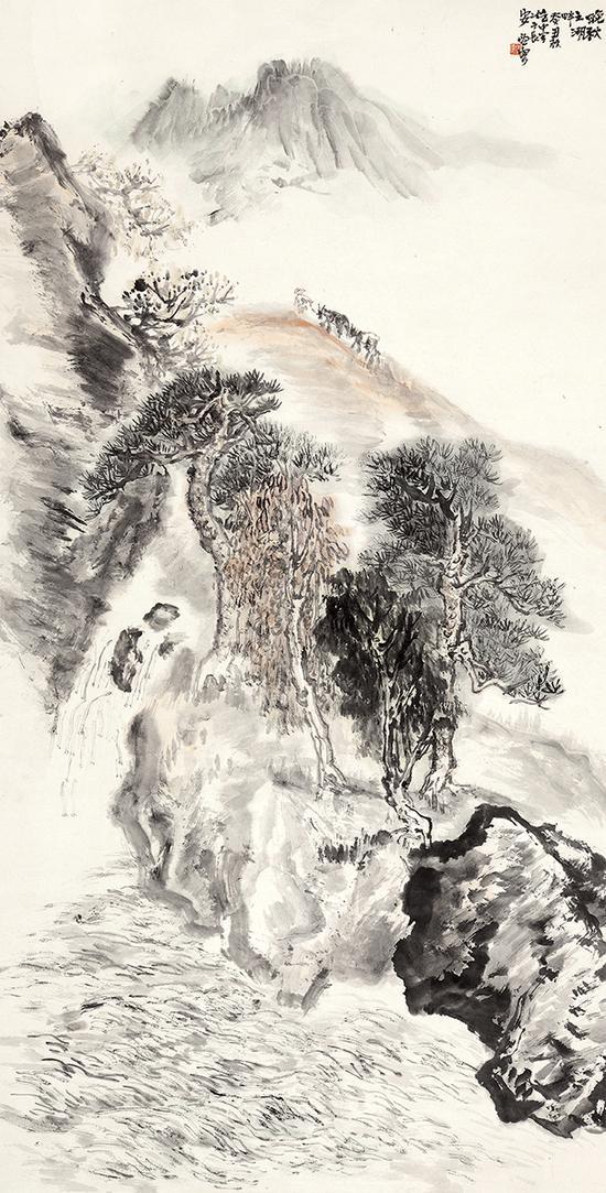 赵望云(1906-1977)晚秋之湖畔