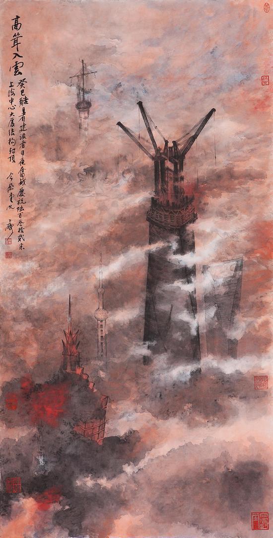 高耸入雲 尺寸:138x69cm 创作年代:2013