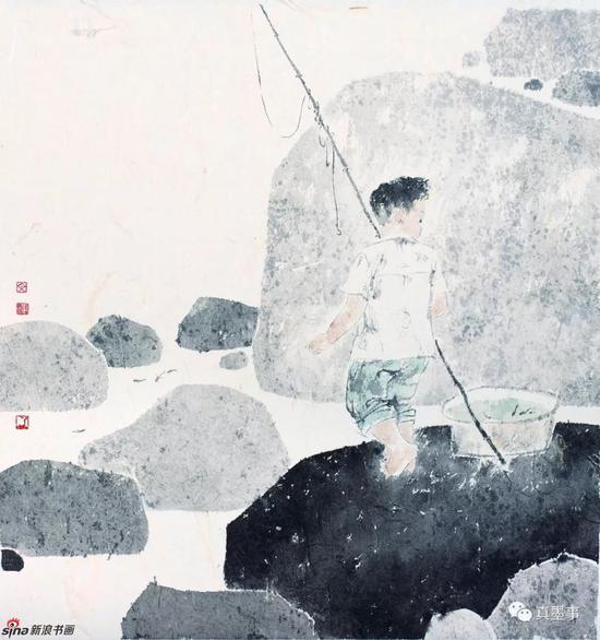 刘文辉《清夏》52×49cm