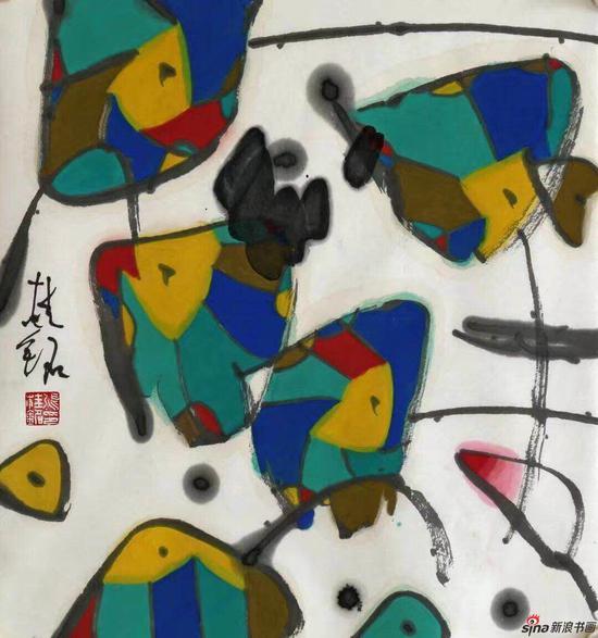 张桂铭--荷塘-45x48