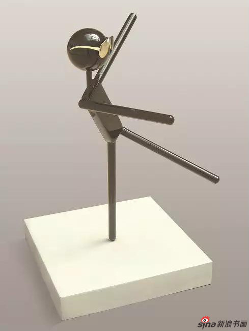 《自得其乐》110×90×90cm 不锈钢烤漆