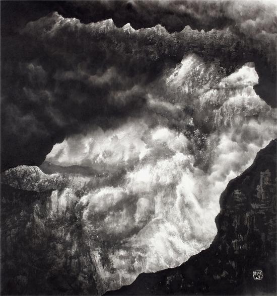 姬子作品 混元系列之四, 90×96cm,纸本水墨,2010