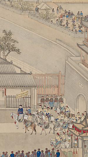 《乾隆南巡图》第六卷《驻跸姑苏》 徐扬(清乾隆) 纵68.6厘米,横2191.9厘米