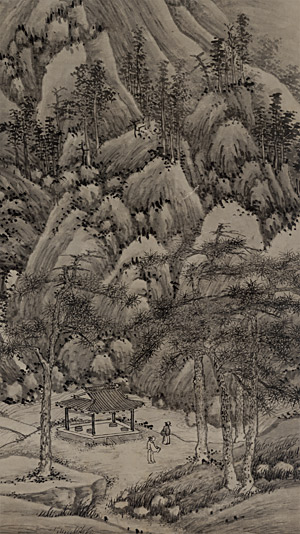 飞来峰图轴 沈周(1427—1509) 纵156厘米,横66厘米