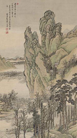 古木晴川图轴 王翚(1632—1717) 纵108.1厘米,横55.3厘米