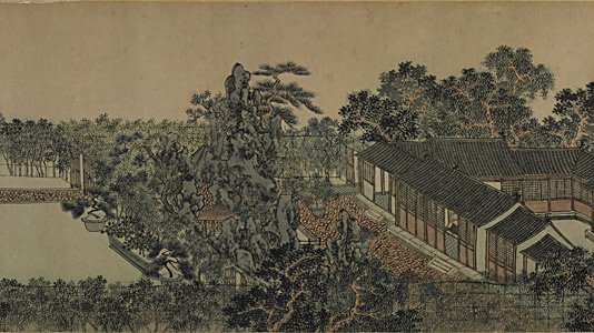 沧浪亭图卷 周臣(?—1535后) 纵35厘米,横300厘米