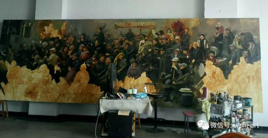 巨幅油画《老戏台》背后的故事