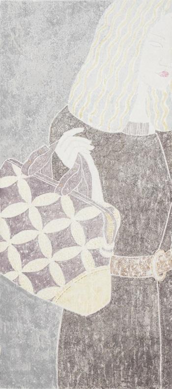 纤纤-郭海潮-纸本设色-35cmx90cm-2014
