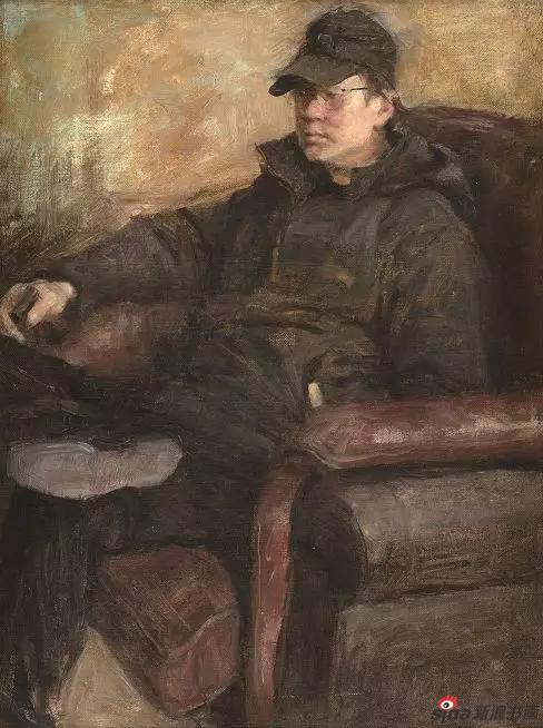 《年轻的阿杜》53×40cm 油画