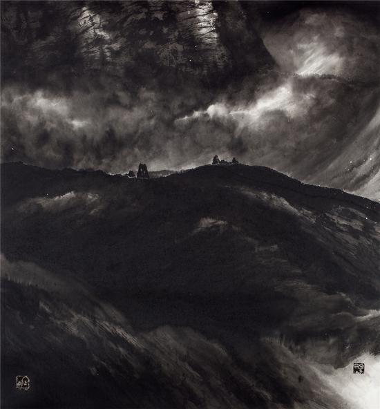 姬子作品 混元系列之三,90×96cm,纸本水墨,2010