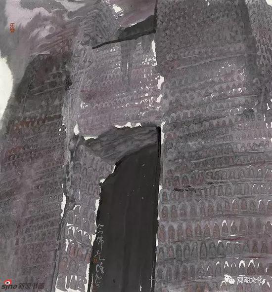 《石城漫步》97x180cm纸本彩墨2018