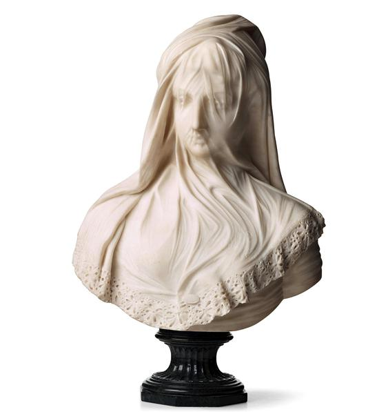 BUST OF A VEILED LADY