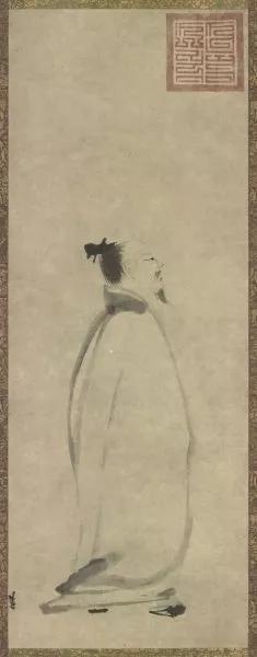 梁楷《李白行吟图》日本东京国立博物馆藏