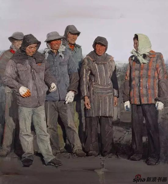 《收获季》布面油画200cm×180cm/2014年