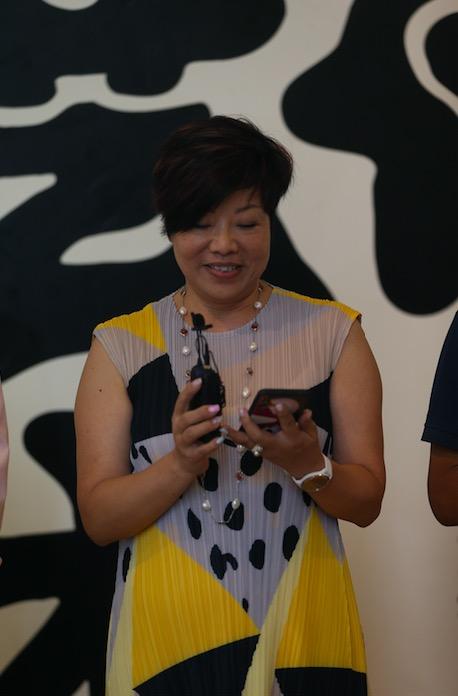 贵点艺术空间总监左函女士在开幕式发言