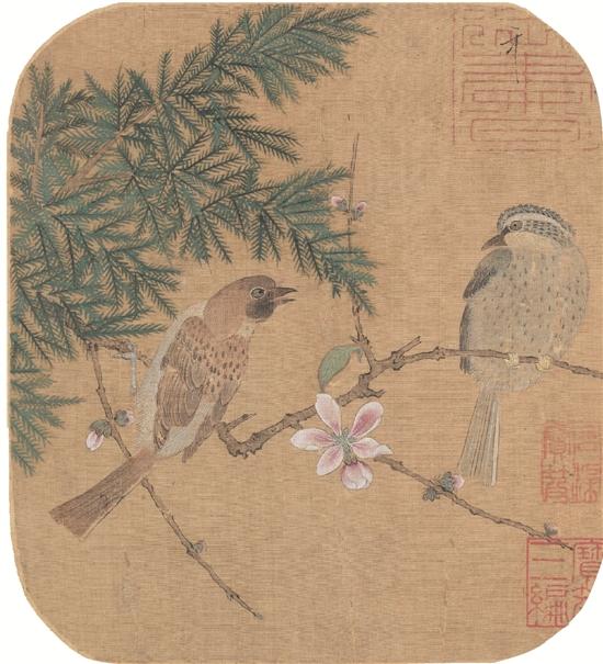 北宋 赵佶 花鸟图册 58×56cm