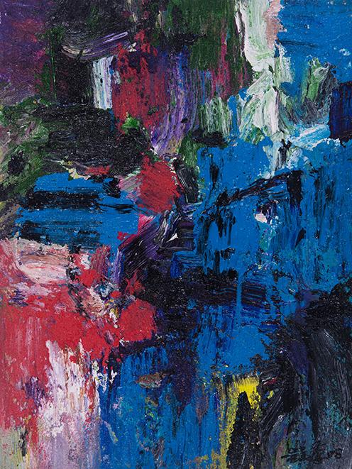 吴晨荣作品  流韵  布上丙烯油画 41x31cm 2008