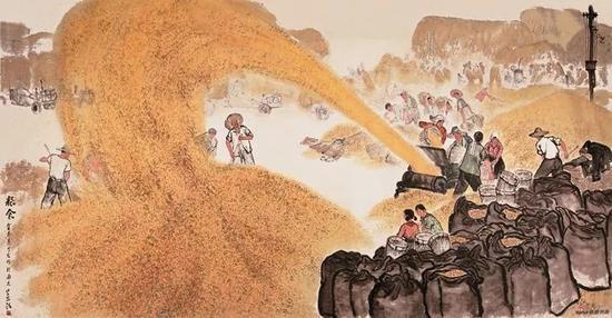 粮食 131×258cm 1973(金志远与魏紫熙等合作) 江苏省美术馆藏