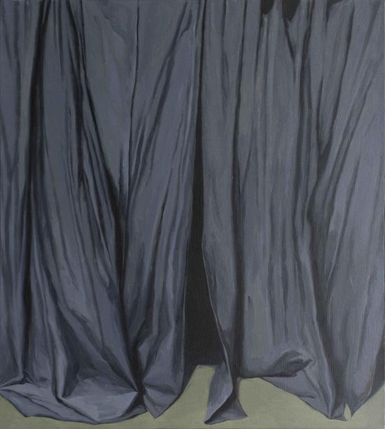 《灰窗帘》之一 布面油画 110x90cm 2016