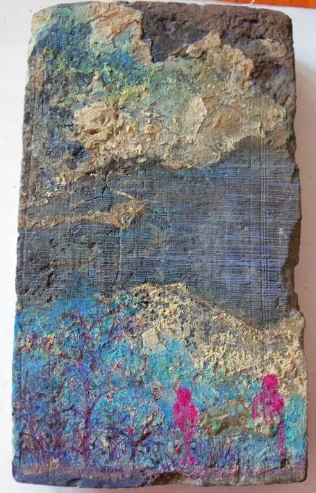 陈清勇 《制造山水》-6 2016 油画 30X40cm