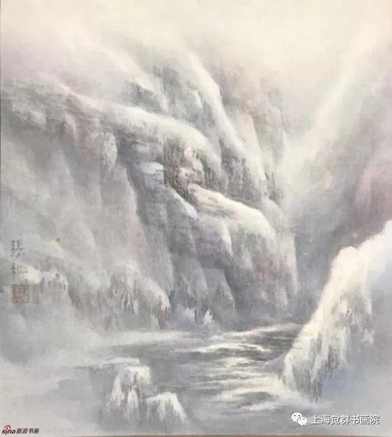 张弛作品《冬日晨曦》