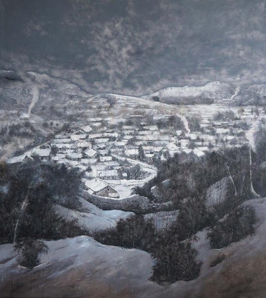 70《又见江南雪》唐满生 200cm×180cm 布面油画 2014年