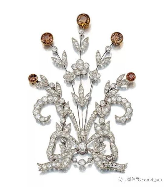 钻石胸针   约20世纪早期