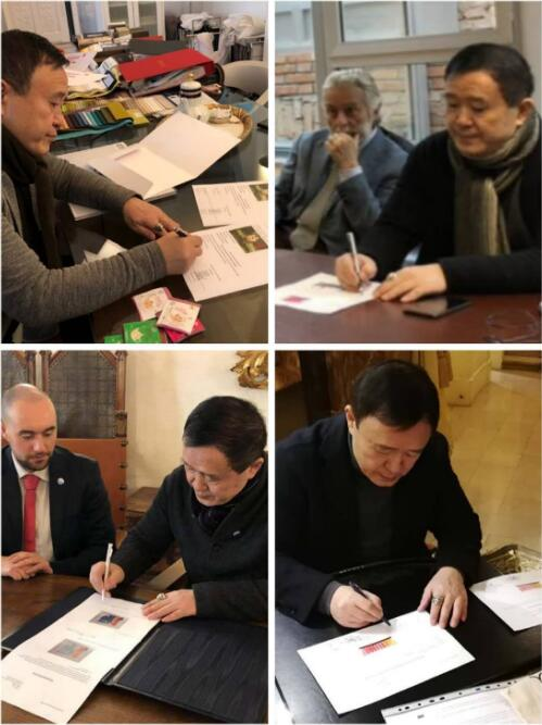 一山分别于米兰,威尼斯,圣玛尼诺国,巴黎签署捐赠文件